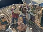 VINTAGE 8 Piece Hand Painted Porcelain Nativity Set