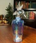 Glass Act Studio 7 Blue Iridescent Hummingbird Crystal Perfume Bottle