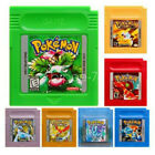 Pokemon Red Blue Yellow Crystal Silver Gold Green GBC Gameboy Color Cartridge US