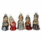 Roman Set of 5 Glass Nativity Figures Christmas Ornaments 4