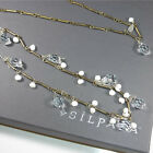 Silpada N2732 Sterling Silver Pearl Party Time Long Necklace 925 Glass Brass