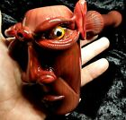 8 inch Red Demon Head Thick Glass Tobacco Smoking Pipe Free Shipping