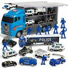 10 in 1 Die cast Police Patrol Rescue Truck Mini Police Vehicles Truck Toy Set