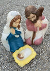 Vintage General Foam Christmas Nativity Mary Joseph Baby Jesus Blow Mold Preown
