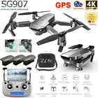 SG907 GPS Drone With 4K HD Dual Camera Wifi FPV Foldable RC Quadcopter Drone UK