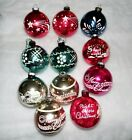 11 Very Large Shiny Brite Glass Christmas Ornaments Stencils Free Shipping