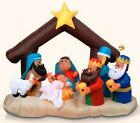 RARE 63 Tall Airblown Baby Jesus 3 Kings Nativity Scene Yard Inflatable