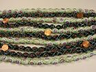 10 Strands 15 India Handmade White and Black Glass Beads Close Out Lot GQ 77