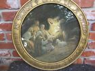 3pt8 CHRISTMAS NATIVITY ART PRINT UNTO US A CHILD IS BORN ROUND RELIEF FRAME
