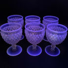 Set Of 6 Fenton HOBNAIL FRENCH OPALESCENT 5 1 2 Goblets Moonstone Glass