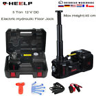 Electric Hydraulic Floor Jack 5 Ton DC 12V Car Jack Lift Tire Inflator Pump Tool