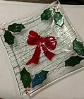 Handmade Fused Stained Glass Christmas Bowl