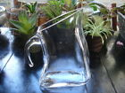 Unique size  retro classy shape cut blown glass  mini 9 curved water pitcher