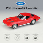 Welly 124 Diecast Alloy Model Collection 1963 Chevrolet Corvette Red Cars Toys