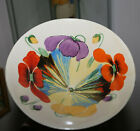 EXRARE CLARICE CLIFF LARGE CONICAL BOWL DELECIA POPPIES ART DECO BIZARRE BEAUTY!