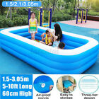 Inflatable Swimming Pools For Adult Kids Family Pool 10Ft Home Outdoor