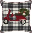 Nourison Holiday Pillows Xmas Moped Tree Multicolor Decorative Throw Pillow