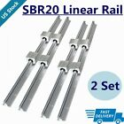4x Sbr20 200mm2200mm Linear Silde Rail Guide Shaft8x Sbr20uu Bearing Block Set