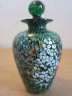 2001 Peter Raos New Zealand Art glass paperweight Perfume Bottle Spring Flowers