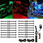 16x 96 LED Motorcycle Under Glow Light Kit Remote Control Multi Color Neon Strip