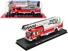 1990 E ONE REAR MOUNT LADDER BOSTON FIRE DEPT RED 1 64 DIECAST AMERCOM ACGB15