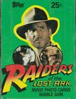 RAIDERS OF THE LOST ARK Topps Movie Cards 1981 VTG Box of 36 Sealed Card Packs