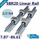 24x Sbr20 Linear Rail 200mm-2200mm Fully Supported Shaft Rod48x Sbr20uu Block