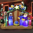 6 FT Long Christmas Inflatable Nativity Scene Inflatablewith Angels with