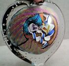 Shimmery HEART Shaped ART GLASS PAPERWEIGHT Signed R Strong 2008 LOVE 3x 275