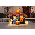 Inflatable Peanuts Nativity Scene LED Christmas Lights Stakes  Tethers Outdoor