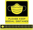 Social Distancing Floor Decal Stickers - 20 Pack 7 Stand Decal