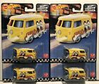 2020 Hot Wheels Boulevard MoonEyes Flames VW KOOL KOMBI VOLKSWAGON RR Lot of 4