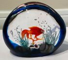 Murano Glass signed Elio Raffaeli Goldfish Aquarium Very Good Condition