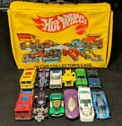 1983 Mattel HOT WHEELS Yellow 24 Car Collectors Carrying Case Filled with Cars
