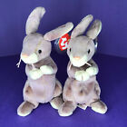 Lot of 2 TY Beanie Baby - SPRINGY the Bunny (8 inch) - MWMTs Stuffed Animal Toy