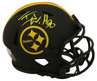 TJ Watt Autographed Signed Pittsburgh Steelers Eclipse Mini Helmet BAS 29591