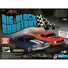 AFX Big Block Shootout 23 Foot HO Slot Car Track w Chevy Chevelle  Ford Mustang