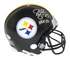 Troy Polamalu Autographed Pittsburgh Steelers Mini Helmet HOF BAS 29642