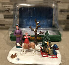 2014 Lemax Village Collections Sleigh Rides Table Accent #43097