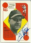 Enos Slaughter 1997 Topps Stars Blue Back Autograph Auto on the Card