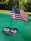 Floating Pool and Pond Decorations including US Flag and Solar Lighting