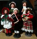 Vintage Christmas carolers lot of 5 old fashioned family singing Carols