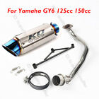 Slip on Motorcycle Exhaust Muffler Link Connect Pipe for Yamaha GY6 125cc 150cc