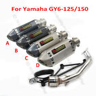 Motorcycle Exhaust System Muffler Link Connect Pipe for Yamaha GY6 125cc 150cc