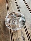 BEAUTIFUL Goebel Crystal Glass Paperweight Sleeping Cat Made in Germany 1986