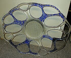 HUGE 17 VINTAGE STUDIO BLOWN ART GLASS SCULPTURE WALL HANGING or CONSOLE BOWL