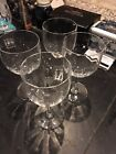 Set 4 Baccarat MONTAIGNE OPTIC Crystal Claret Red Wine Goblets Clear 5 3 4