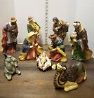 Grandeur Noel Porcelain 9 Piece Set NATIVITY Collectors Edition