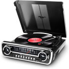Ion Audio Turntable Mustang LP 4 in 1 Classic Car Styles Music Center Black