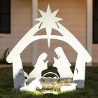 Best Choice Products 4ft Christmas Holy Family Nativity Scene Outdoor Yard PVC